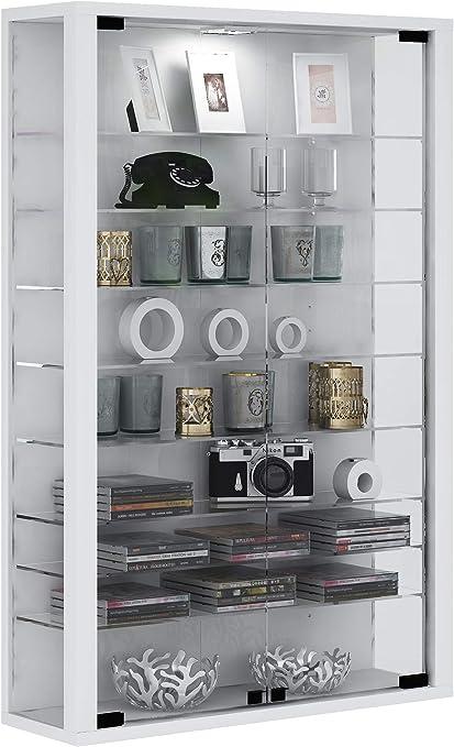 vcm vitrine mural vitrosa mini blanc bois 90
