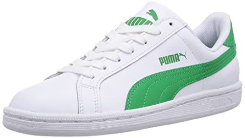 PUMA SMASH v2 L scarpa in Pelle Colore bianco / amazon green