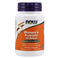 NOW Supplements, Women's Probiotic, 20 Billion,  Specially Formulated using Three Clinically Tested Probiotic Strains, 50 Veg Capsules