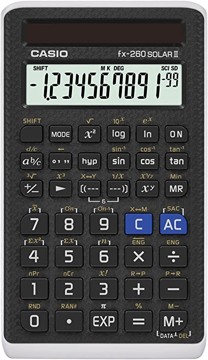 Amazon.com: Casio (FX-260 SOLARII-S-IH) - calculadora ...