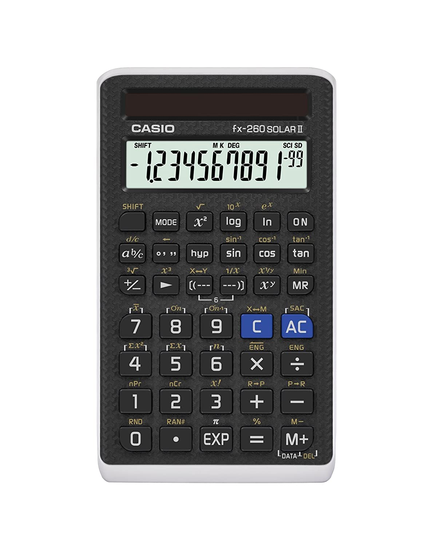 Casio Scientific Calculator Black, 3' W x 5' H, 2.25 (FX-260 SOLARII-S-IH)