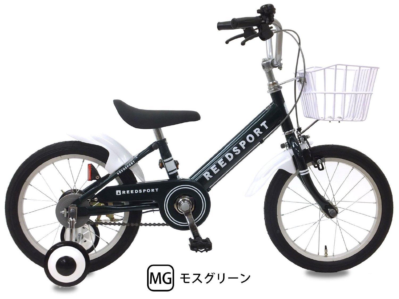 リーズポート(REEDSPORT) 補助輪付き 組み立て式 子供用自転車 幼児自転車 B01IUNAXC8 18インチ モスグリーン モスグリーン 18インチ