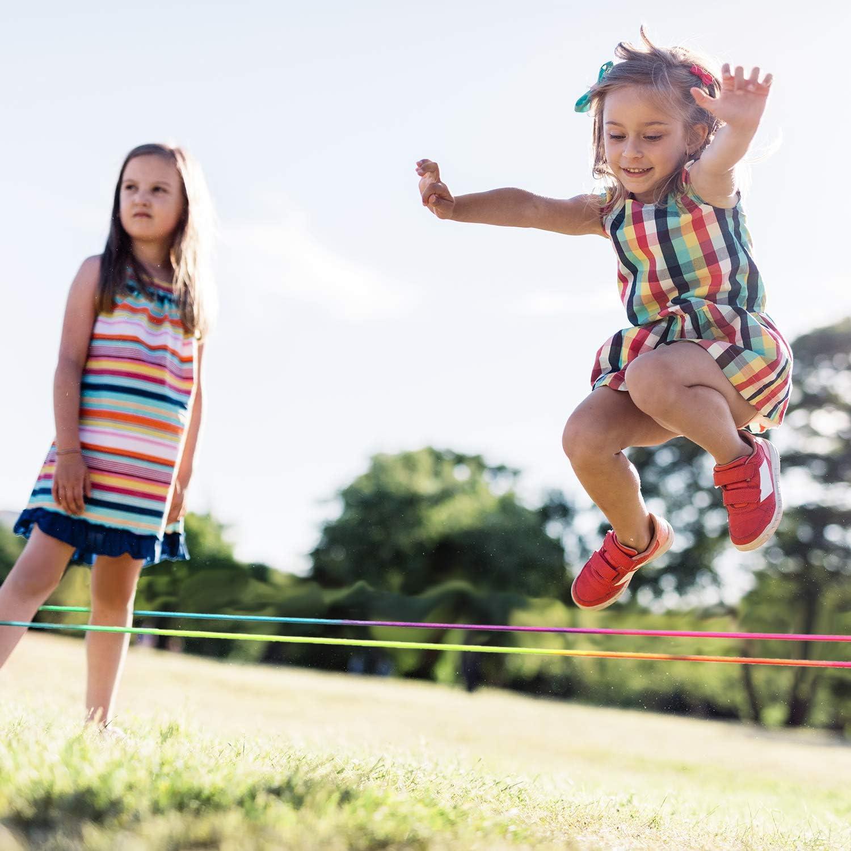 TOYANDONA 1 Pcs Chinois Corde /à Sauter /Élastique Jeu de Fitness Corde Extensible Int/érieure Ext/érieure Corde /à Sauter Jeu de Saut pour Enfants Enfants