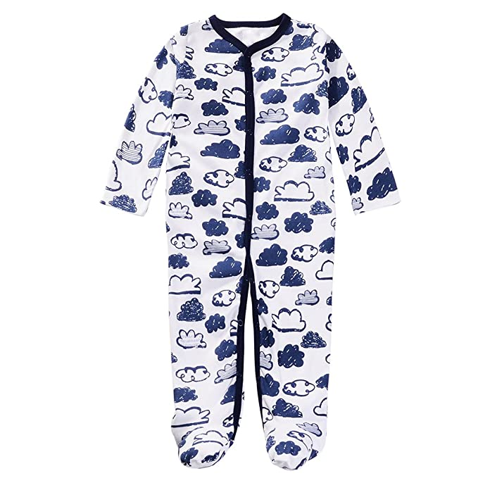 5cb89c088201 Aablexema Unisex Baby Footed Pajamas - 3 Packs Girls Boys Baby ...