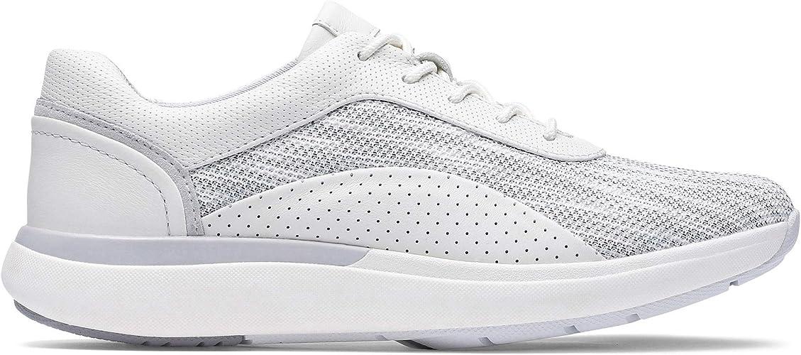 Clarks - Zapatillas de Running para Mujer Blanco Blanco 4.5, Color ...