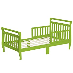 Dream On Me Classic Sleigh Toddler Bed, Lime Green, 24 Pound