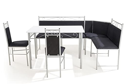 SO LIVING soliving ángulo Set Mesa y Banco, MDF, Negro, 110 x 70 x ...