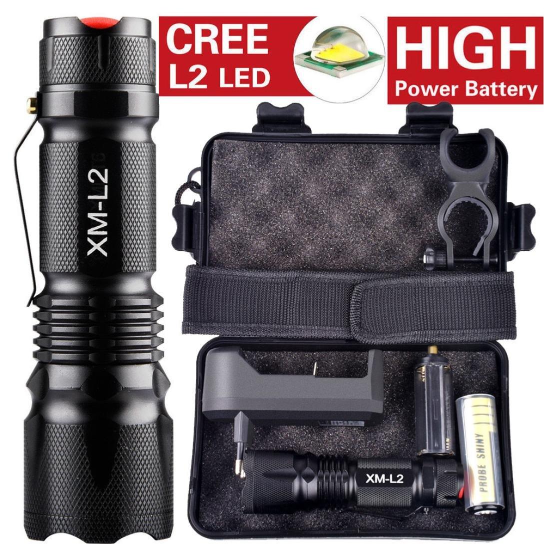 10000 Lumens LED Taschenlampe, 5 Modi XM-L L2 TaktischTaschenlampe Mit Batterie By huichang