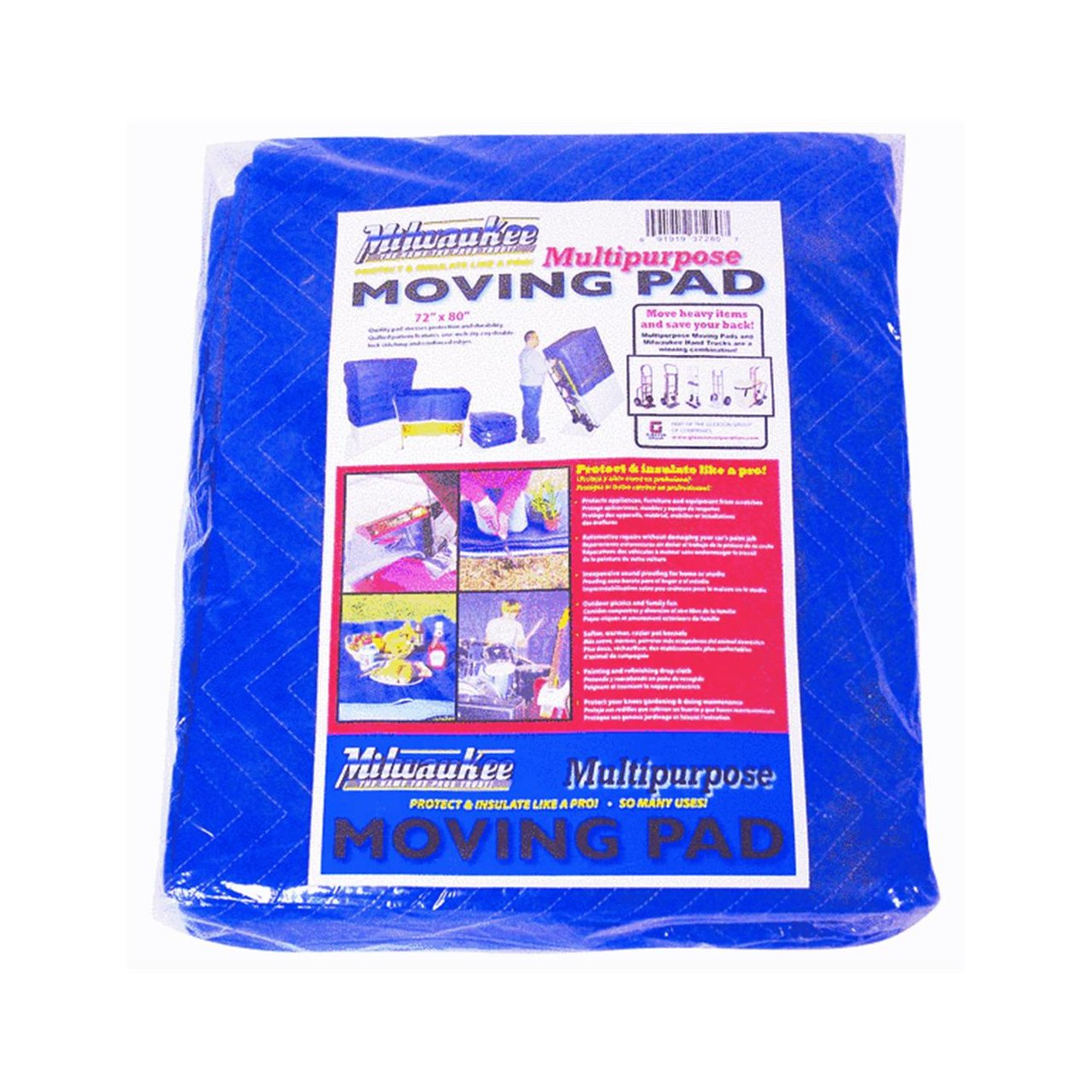 milwaukee hand trucks 37280 72 inch by 80 inch moving pads