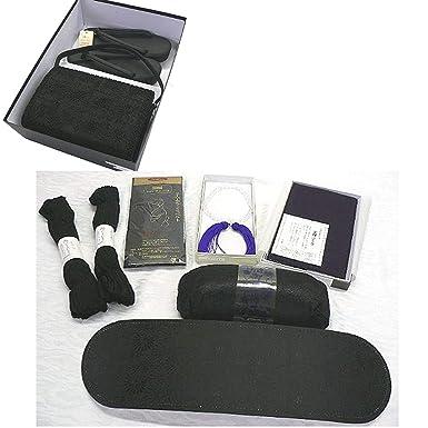 37a280c9e23171 Amazon | 喪服用 草履・バッグ・小物フルセット L | 和装小物 通販