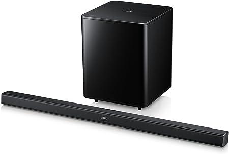 Samsung HW-F550 2.1channels 310W Negro Altavoz soundbar - Barra de Sonido (2.1 Canales, 310 W, Dolby Digital,DTS, Active subwoofer, Corriente alterna, 2,2 kg): Amazon.es: Electrónica