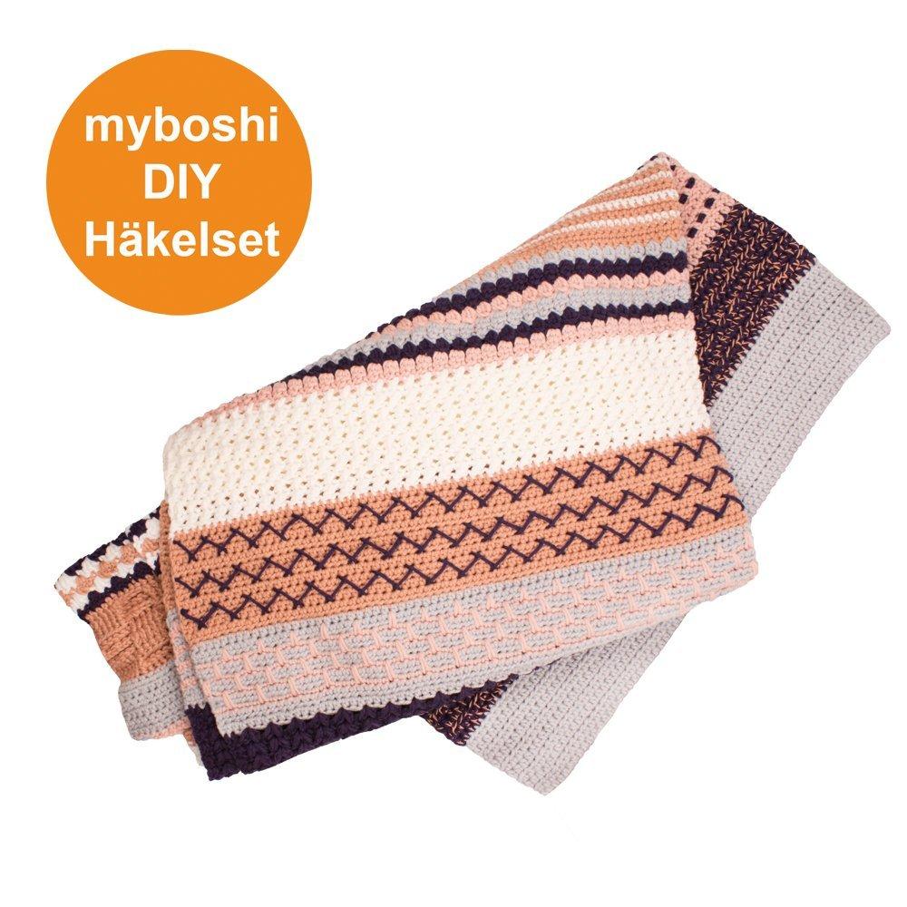 Decken Set für Häkeldecke Nagato Häkelanleitung + Häkelwolle (45 ...