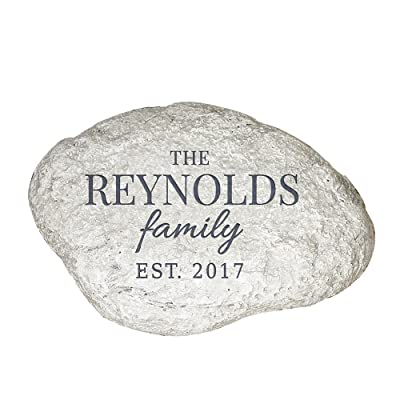 """GiftsForYouNow Family Established Personalized Garden Stone, 11"""" W x 8"""" H x 1 1/2"""" D, Resin : Garden & Outdoor"""