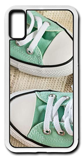 c9c38d1a98cc00 Image Unavailable. Image not available for. Color  iPhone X Case Green  Converse Tennis Shoes White Laces Customizable by TYD Designs ...