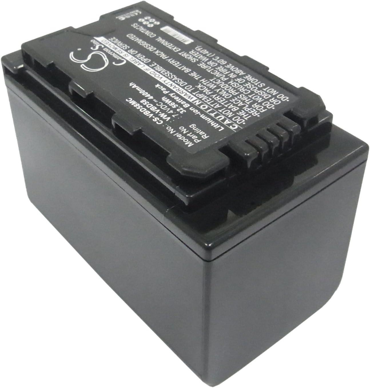 VW-VBD58E-K AJ-PX298MC HC-MDH2GK P//N VW-VBD29 HC-MDH2 AJ-PX298 VW-VBD58 4400mAh Battery Replacement for Panasonic AJ-PX270 VW-VBD58PPK