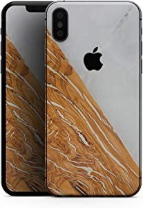 Marble & Wood Mix V2 - Design Skinz Premium Skin Decal Wrap for The iPhone 5s or SE