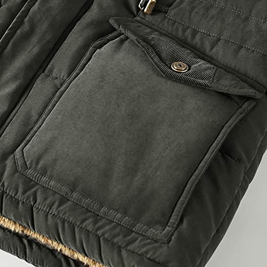 Amazon.com: Allywit Mens M-8XL Coat Warm Down Jacket Fleece Thick Winter Hooded Coat Outwear Parka: Clothing