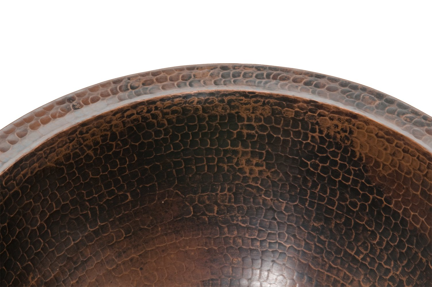 Premier Copper Products LR14FDB Small Round Under Counter Hammered Copper Sink, Oil Rubbed Bronze by Premier Copper Products (Image #3)
