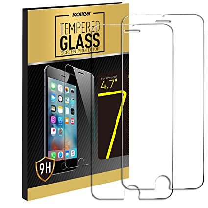 kollea 9h ballistic nano tempered glass screen protector for apple iphone 7 47quot amazoncom tempered glass