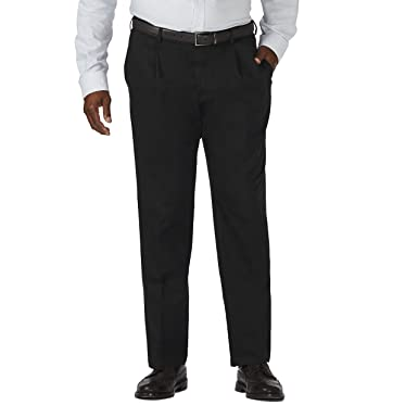 8316754030 Amazon.com: Haggar Men's Big & Tall Work to Weekend Hidden ...