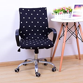 Outstanding Yiwant Stretch Removable Washable Office Chair Cover Protector Seat Slipcover For Low Back Computer Chair Swivel Chair Adjustable Chair Desk Machost Co Dining Chair Design Ideas Machostcouk