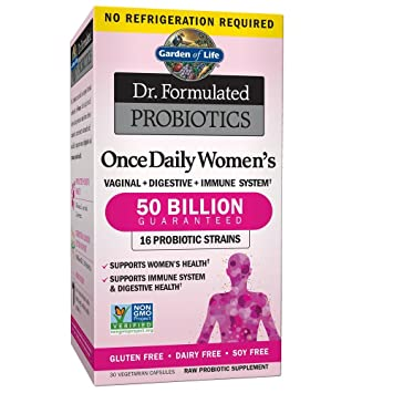 Garden Of Life Dr. Formulated Once Daily Women's Shelf Stable Probiotics  16 Strains, 50 Billion Cfu Guaranteed Potency To... by Garden Of Life