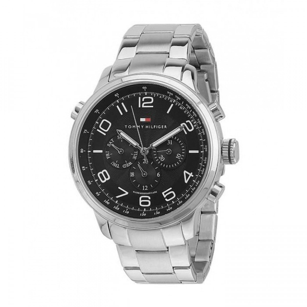 df5255385e8 Buy Tommy Hilfiger Analog Black Dial Men's Watch - NATH1790965J Online at  Low Prices in India - Amazon.in