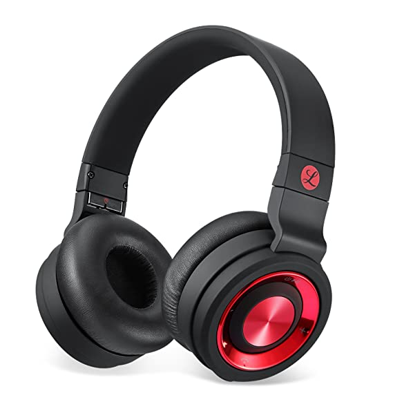 0605601bec5 Image Unavailable. Image not available for. Color: Tranya Stereo Wireless  Headphones with Microphone On-Ear Foldable ...