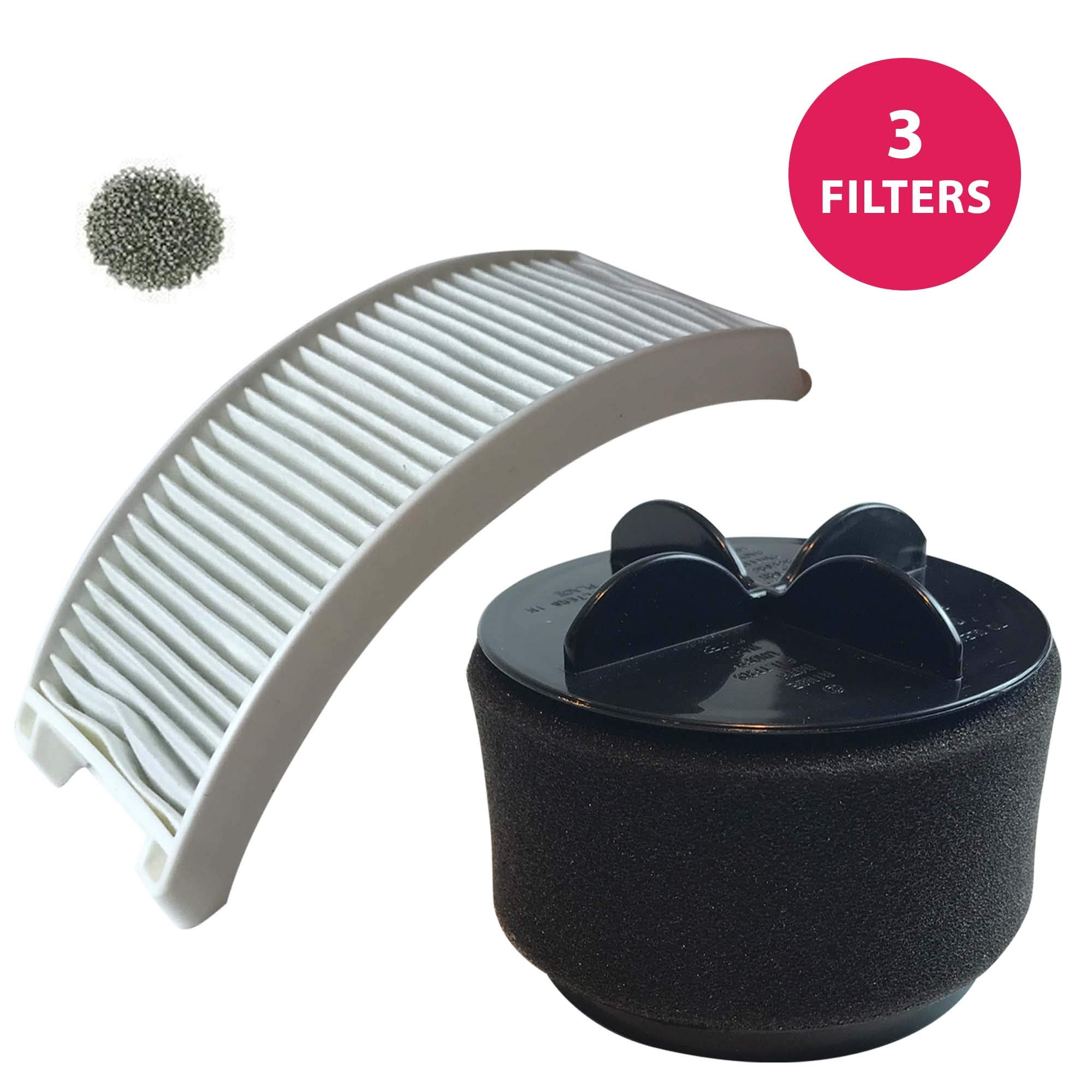 Think Crucial Replacement for Bissell Style 12 Filter Kit w/Exhaust, Inner & Pre-Filters, Compatible with Part # 2031402, 2031183 & 2032120