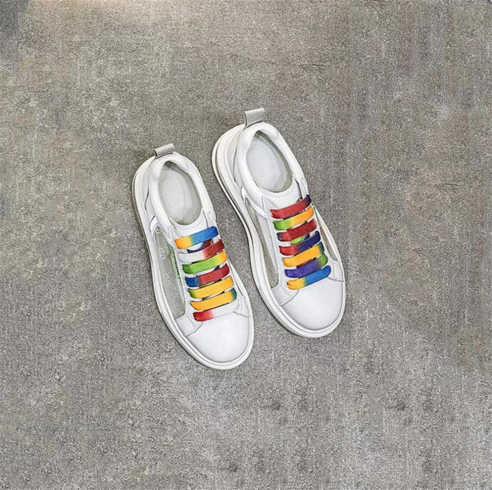 XL_nsxiezi Sneakers Femme en Cuir véritable Argent A