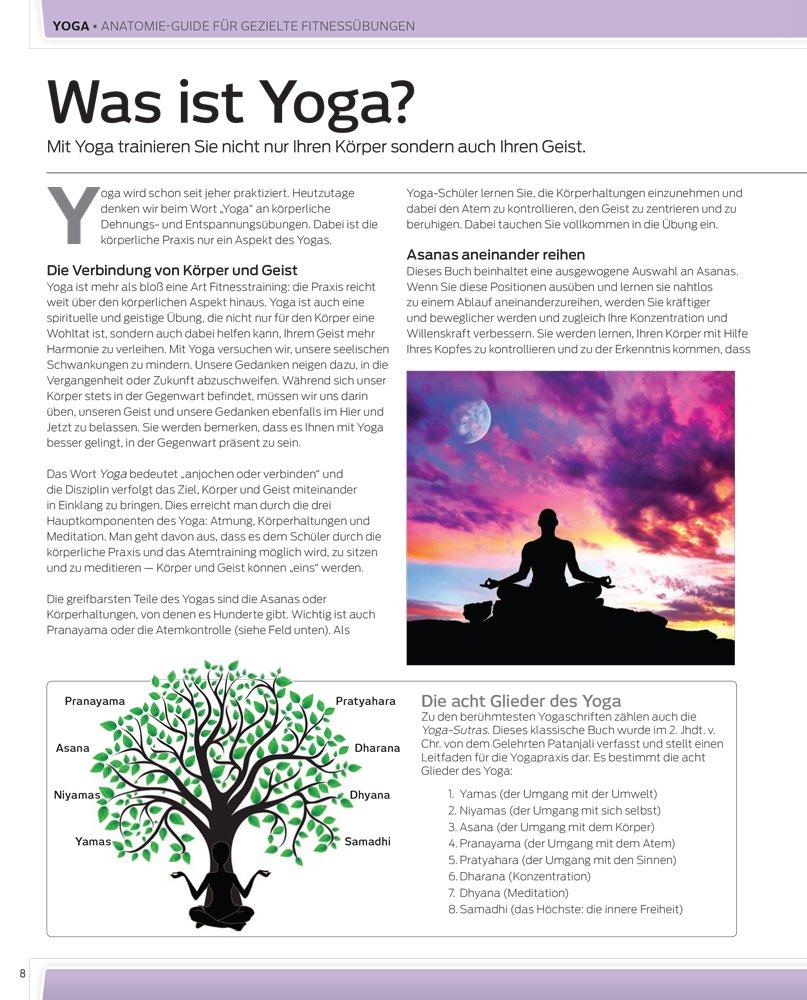 Yoga: Anatomie-Guide für gezielte Fitnessübungen: Amazon.co.uk ...