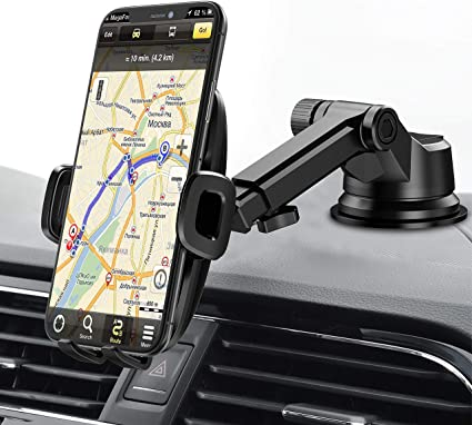 Google Pixel LG G5 G6 V20 All Smartphones Easy One Hand Operation Car Mount Dashboard Window Clip Holder for iPhone 8 7 6 6S Plus 5S Samsung Galaxy S8 S8+ S7 S6 Edge S5 Note Motorola Moto Z