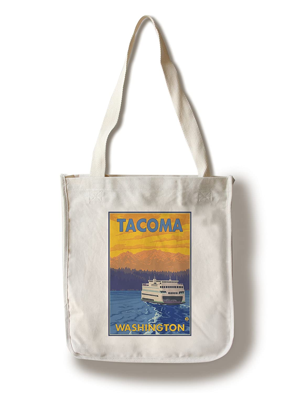 【中古】 フェリーと山 – タコマ Canvas、ワシントン Canvas B0182QVH5U – Tote Bag LANT-13930-TT B0182QVH5U Canvas Tote Bag, トミダライティング:2416b0b2 --- efichas.com.br