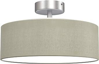 Briloner Leuchten - lámpara de techo, 2 x E14 máx. 40 vatios, pantalla de tela, color: satén, diámetro de 30cm: Amazon.es: Iluminación