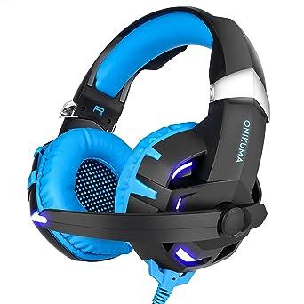 ONIKUMA K2 Auriculares Cascos de Juegos para PC con Micrófono Cancelación De Ruido Gaming Headset para