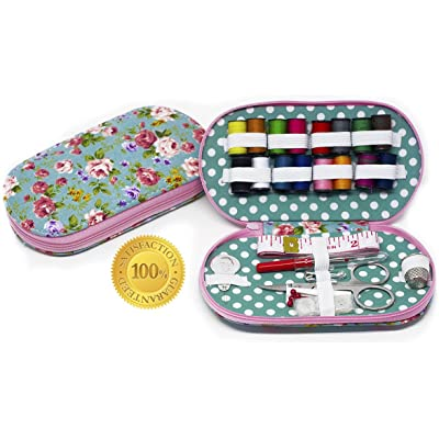 Madezin Vintage Style Travel Sewing Kit. Unique GIFT Idea