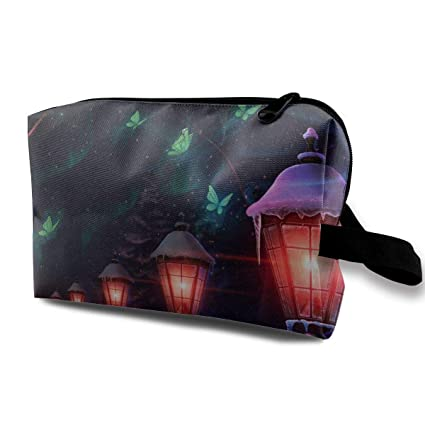 Bolsas de cosméticos de viaje Paisaje de la lámpara de calle ...