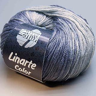 LANA GROSSA - Gomitolo di Lana Linarte Color, Stagione 2017, 50 g, Colore 206