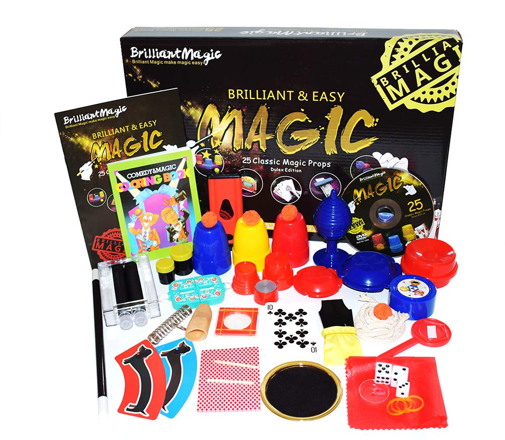 Jufang Magic Set Magic Kit for Kids Magic Games for Children Including 25 Tricks Easy to Play Magic Best Gift for Boys Girls and Adult DVD Instruction by Jufang