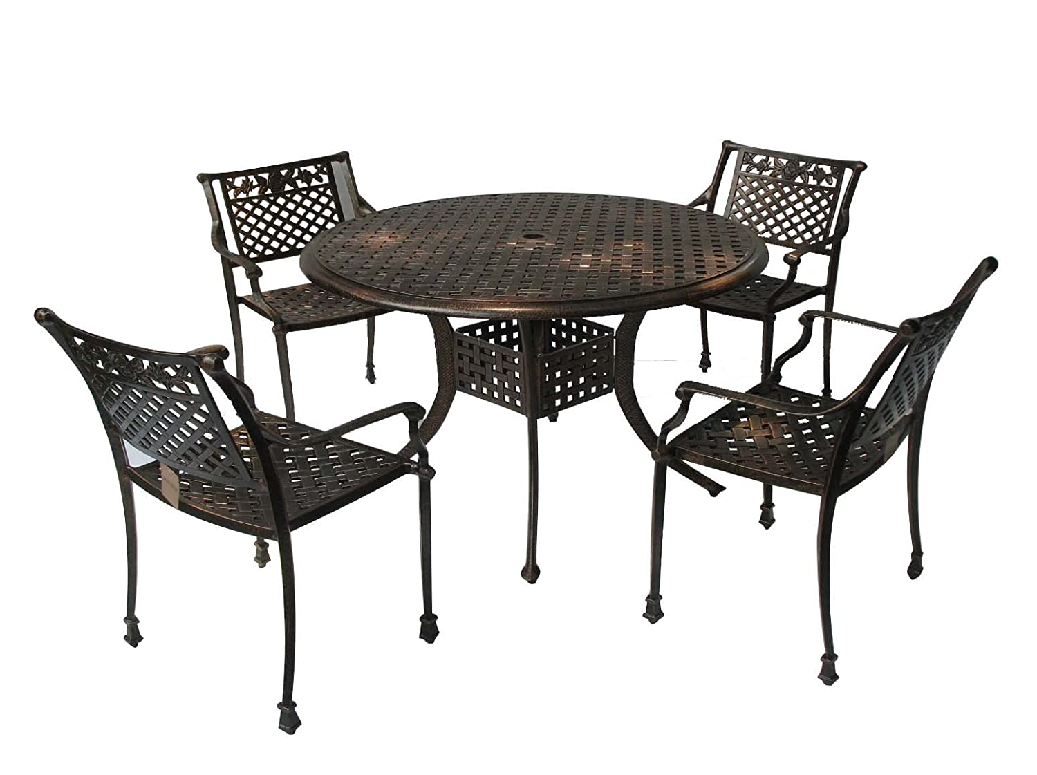 Good Amazon.com : Best Selling Sebastian Cast Aluminum Dining Set, Antique Copper  Finish : Outdoor And Patio Furniture Sets : Patio, Lawn U0026 Garden
