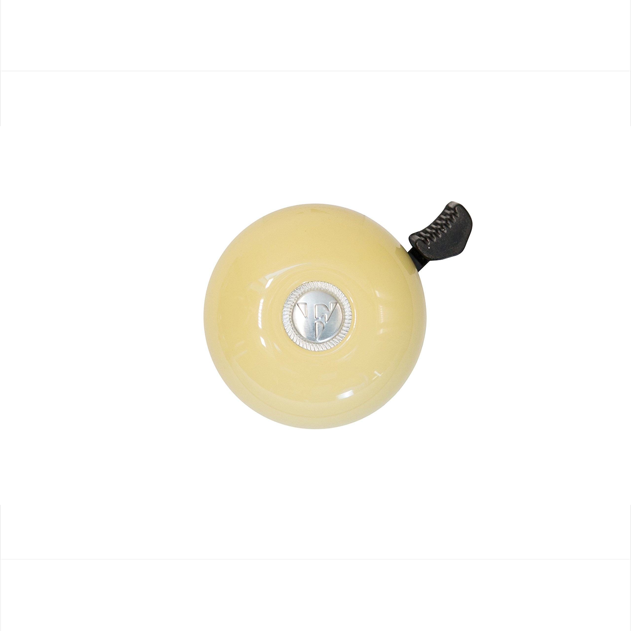 Firmstrong Classic Beach Cruiser Bicycle Bell, Vanilla