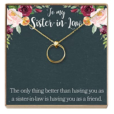 dear ava sister of the groom gift necklace sister in law gift wedding