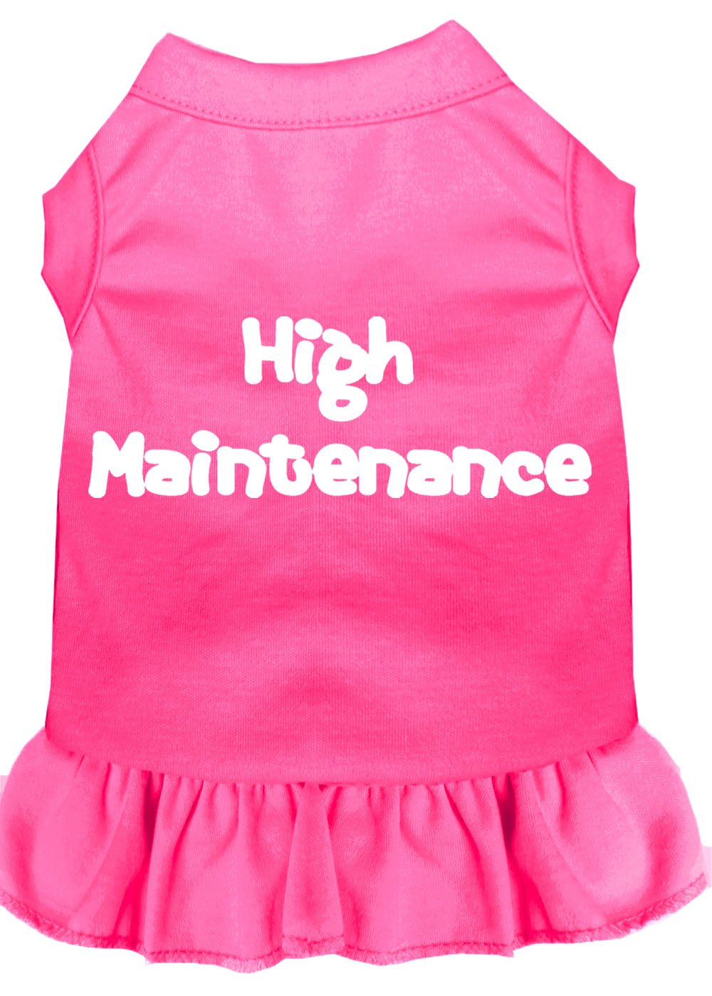 Mirage Pet Products 58-06 XXXLBPK Pink High Maintenance Screen Print Dress Bright, 3X-Large