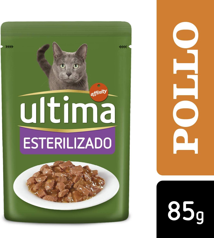 ULTIMA bocaditos con pollo para gatos esterilizados bolsa 85 gr ...