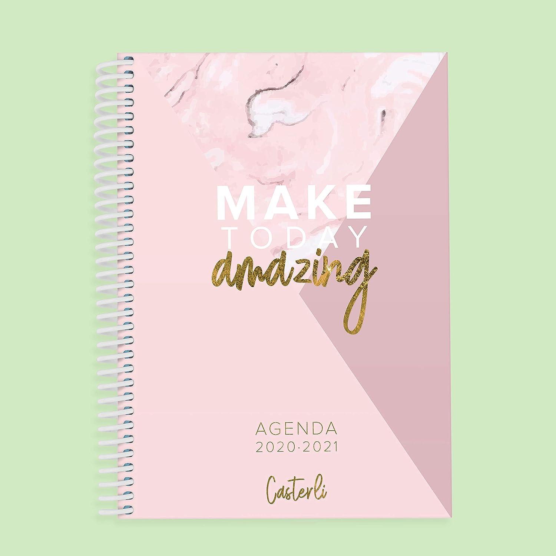 Casterli Colecci/ón Amazing Make today Amazing d/ía p/ágina Agenda Escolar 2020 2021 tama/ño A6
