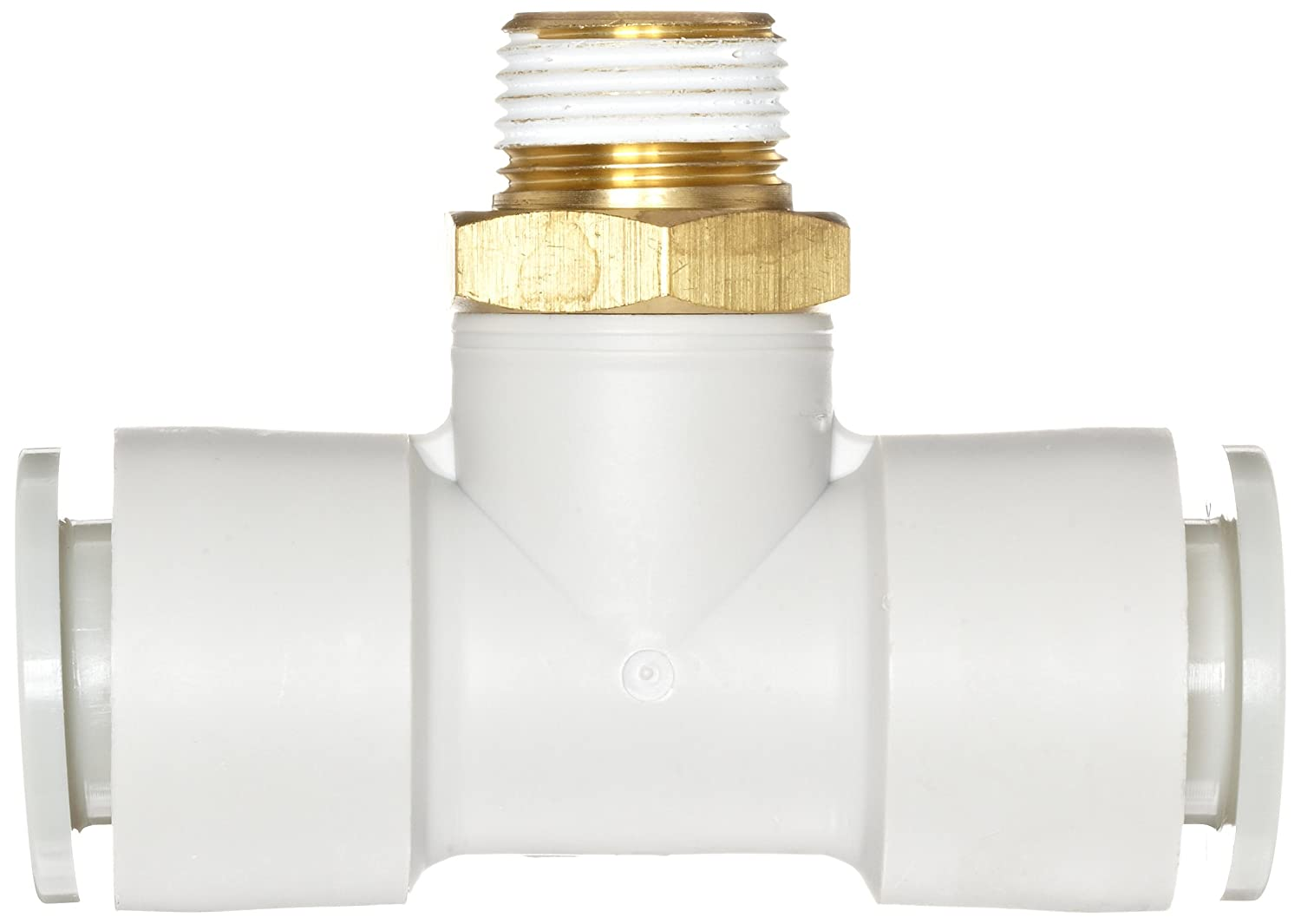 Branch Tee SMC KQ2T06-01AS PBT /& Brass Push-to-Connect Tube Fitting with Sealant 6 mm Tube OD x 1//8 BSPT Male