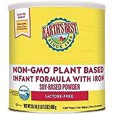 Earth's Best Plant Based Baby Formula, Soy Based Powder Infant Formula with Iron, Lactose Free, Non-GMO, Omega-3 DHA and Omeg
