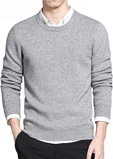Suéteres de Primavera para Hombre Jerseys Estilo Simple Algodón O ...
