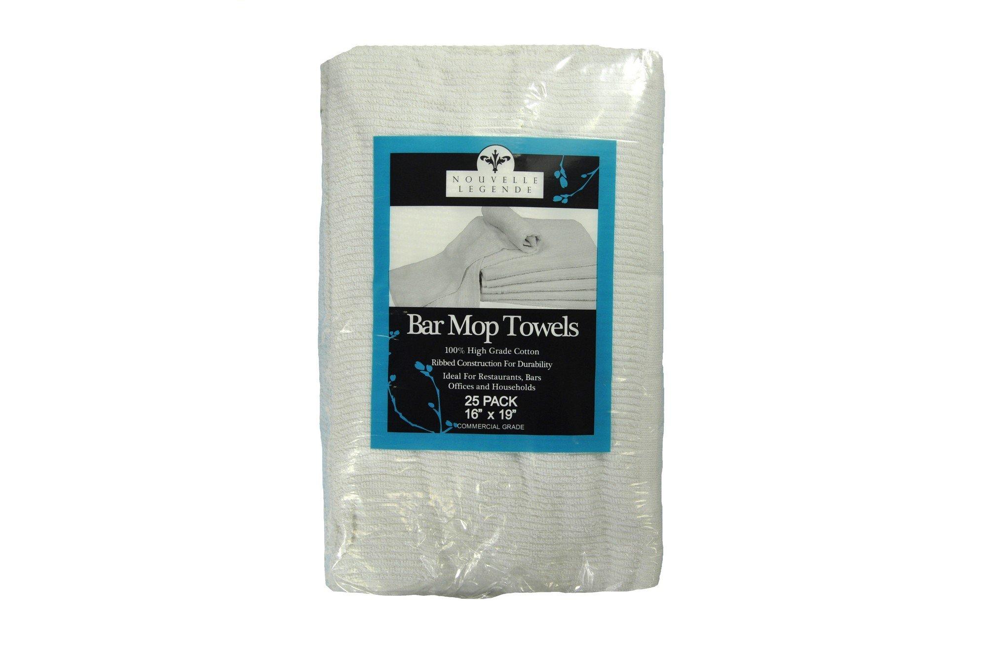 Nouvelle Legende Cotton Bar Mop Ribbed Towels Commercial Grade (25-Pack) by Nouvelle Legende (Image #6)