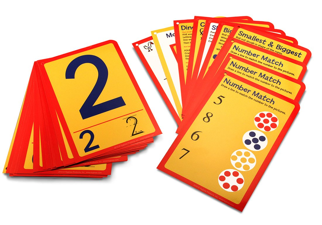 Hygloss Products Number Tracing Cards, Interactive Numeracy Games, 32 Write & Wipe Cards for Kinesthetic Learning Inc. 90220